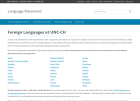 languageplacement.unc.edu