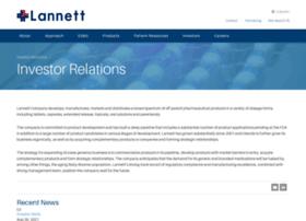 lannett.investorroom.com