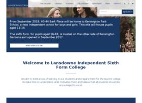 lansdownecollege.com