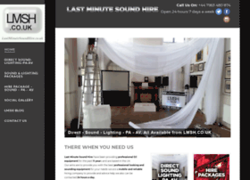 lastminutesoundhire.co.uk
