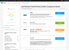 lastminutetravel.bluepromocode.com
