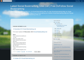 Latestsocialbookmarkingsitelist.blogspot.com