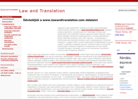lawandtranslation.com