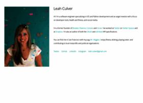 leahculver.com