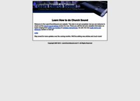 learnchurchsound.com
