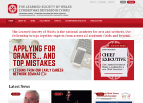learnedsocietywales.ac.uk
