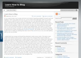 learnhowtoblog.iblogger.org