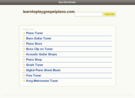 learntoplaygospelpiano.com