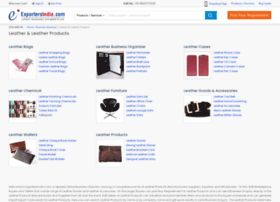 leather-products.exportersindia.com