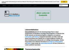 lebensmittellexikon.de