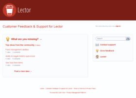 lector.uservoice.com
