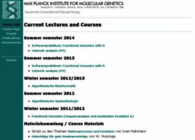 lectures.molgen.mpg.de