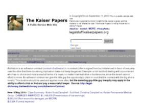 legalstuff.kaiserpapers.org