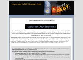 legitimatedebtsettlement.com