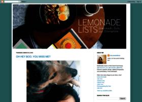 lemonadelists.blogspot.fr