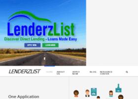 lenderzlist.com