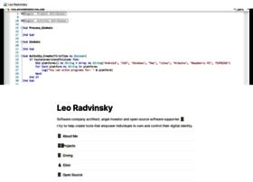 leoradvinsky.com