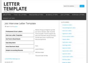 lettertemplate.net