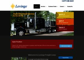 levingefreightlines.com