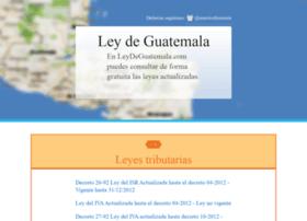 leydeguatemala.com