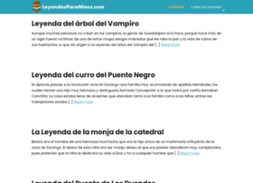 leyendasparaninos.com
