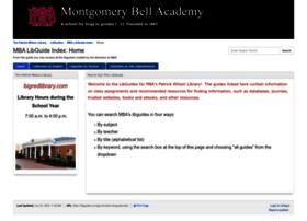 libguides.montgomerybell.edu