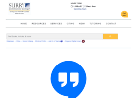 library.surry.edu