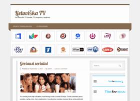 lietuviskatv lt lietuviška tv visi lietuviški tv kanalai tv programa