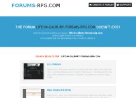 life-in-calbury.forums-rpg.com