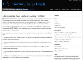 lifeinsurancesalesleadsguide.com