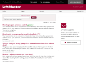 liftmaster.custhelp.com