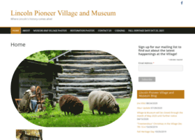 lincolnpioneervillage.com