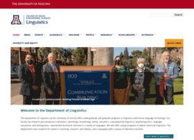 linguistics.arizona.edu