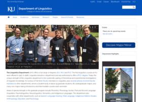 linguistics.ku.edu