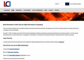 linuxclustersinstitute.org
