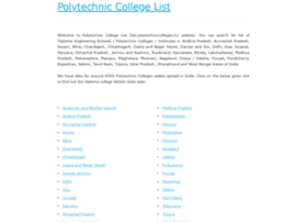 list.polytechniccolleges.in