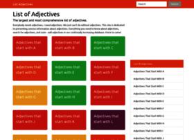 listadjectives.com