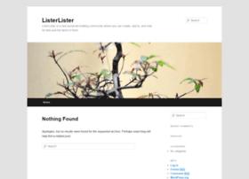 listerlister.com