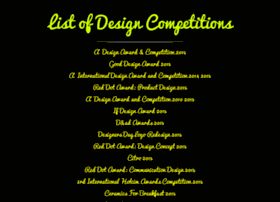 listofdesigncompetitions.com