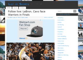 listofsports.com