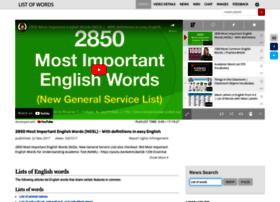 listofwords.org