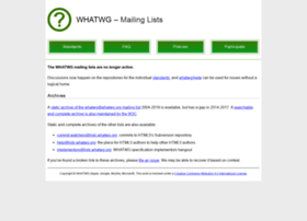 lists.whatwg.org