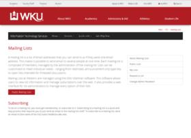 lists.wku.edu