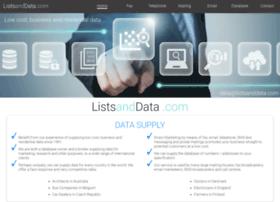 listsanddata.com