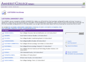 listserv.amherst.edu
