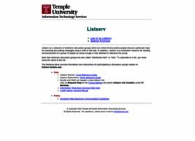 listserv.temple.edu