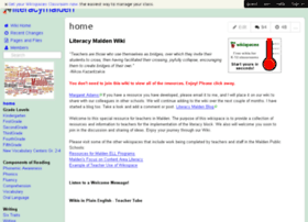 literacymalden.wikispaces.com
