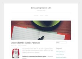 livingasignificantlife.wordpress.com