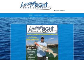 livingrightfishingcharters.com
