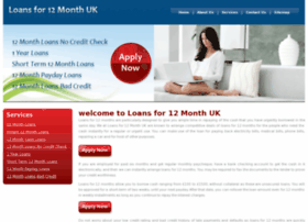 loansfor12monthuk.co.uk